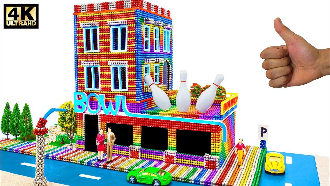 DIY -  بناء مركز لعبة البولينج من الكرات المغناطيسية (مرضية) - Oddly Magnets