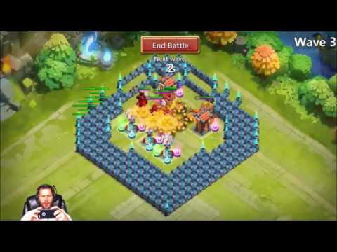 Castle Crisis Ember Army Base Set Up Plus Heroes Crests Castle Clash