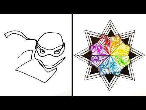 15 Easy Drawing Tricks | Tutorial Drawing thumbnail
