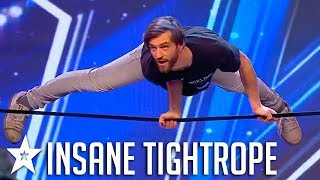 AMAZING TIGHTROPE STUNTS on Portugal's Got Talent | Got Talent Global