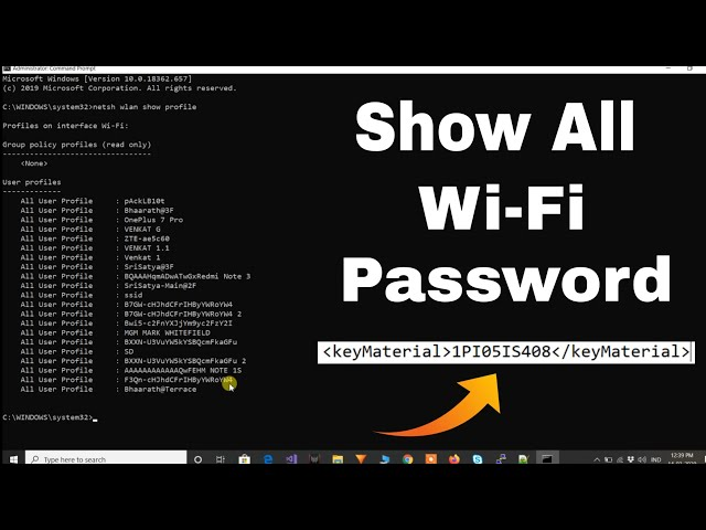 Find all Wi-Fi passwords with only 1 command😍   Windows 10/8.1/8/7   How To Get WiFi Password