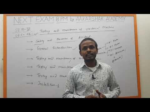 || Lecture 01 || Testing And Maintenance Of Electrical Machines || 6th Semester || Electrical ||