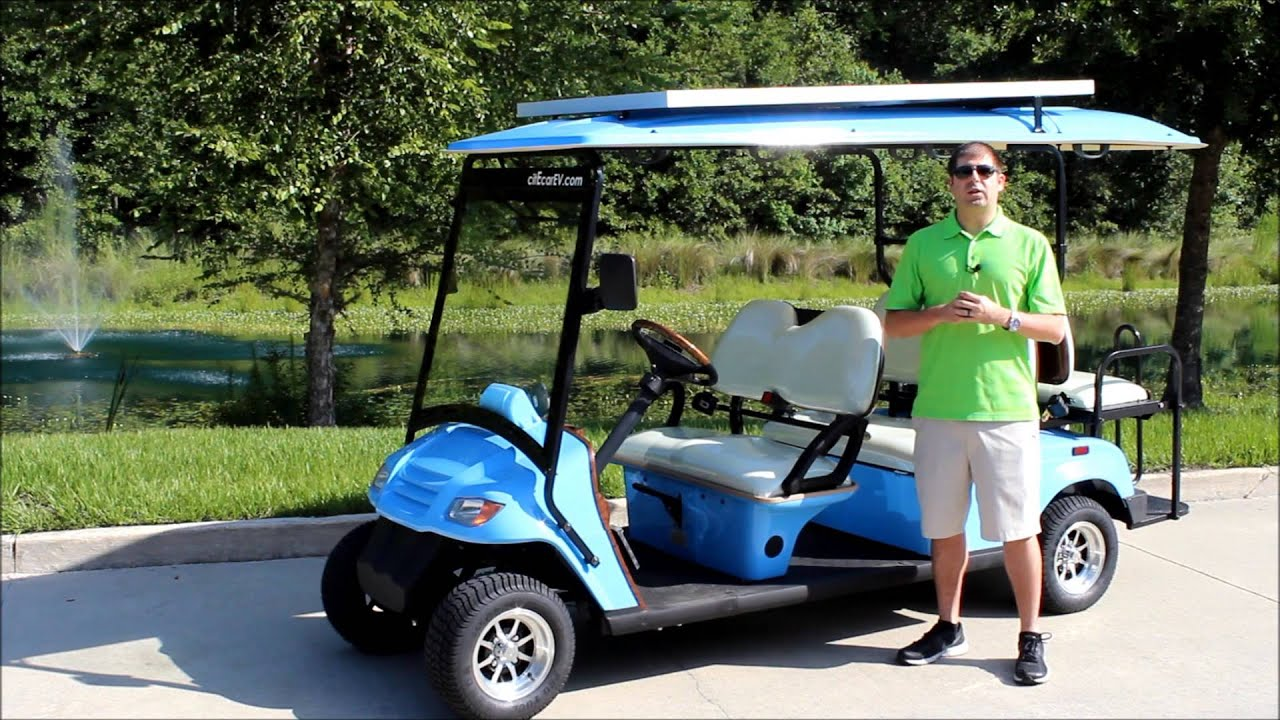 Longest Range On A Golf Cart 105 Miles Per Charge By Bintelli Electric Vehicles