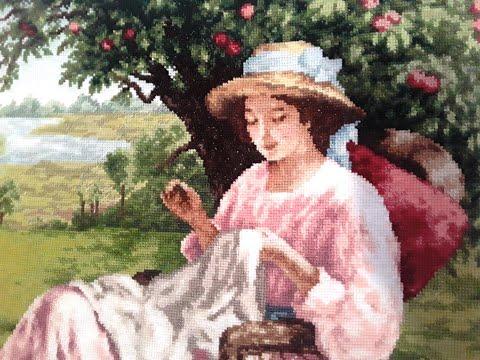 Яблоневый сад вышивка