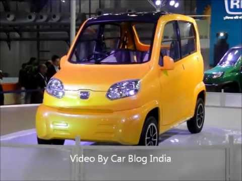 Bajaj RE60 Ultra Low Cost Car or Four Wheeler Video Review From Auto Expo 2012
