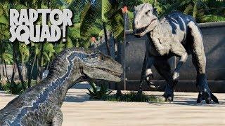Blue, Echo, Delta, Charlie & Rexy vs Indominus Rex - Jurassic World Rebuilt (4K 60FPS)