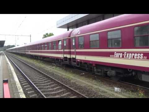 Locon 189 099 vertrekt met de Balaton sound express in Bergen op Zoom