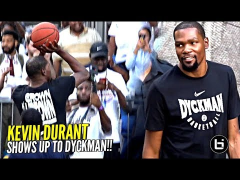 a5adeff6af25 Kevin Durant BACK at DYCKMAN! Puts Up Shots   Trying To Recruit Players  EARLY For Warriors 😂 (JK)