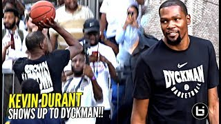Kevin Durant BACK at DYCKMAN! Puts Up Shots & Trying To Recruit Players EARLY For Warriors 😂 (JK)