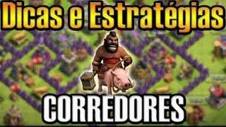Clash of Clans - Como atacar de corredor na guerra (Hog) CV8/TH8