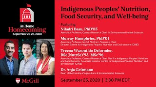 Masterclass: Indigenous Peoples' Nutrition, Food Security, and Well-being