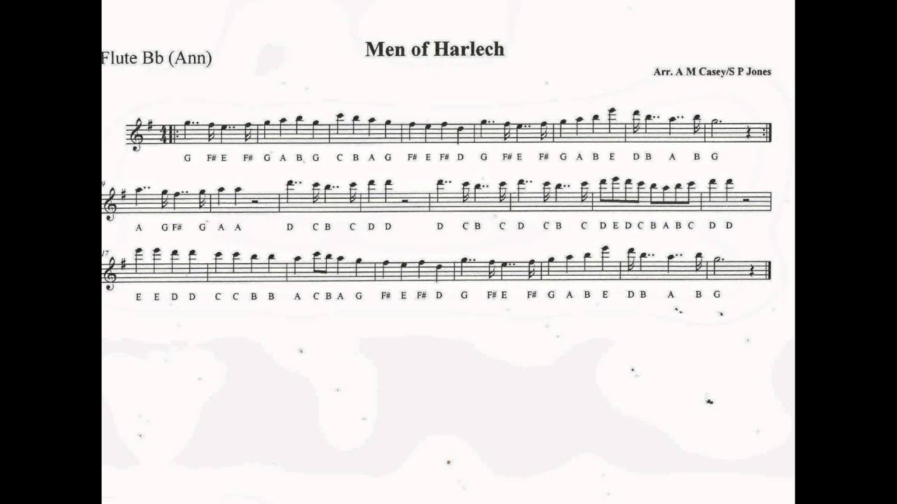 Men Of Harlech - Bb Flute - YouTube