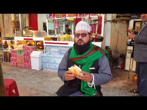 Eating Filafil at Najaf Al Ashraf