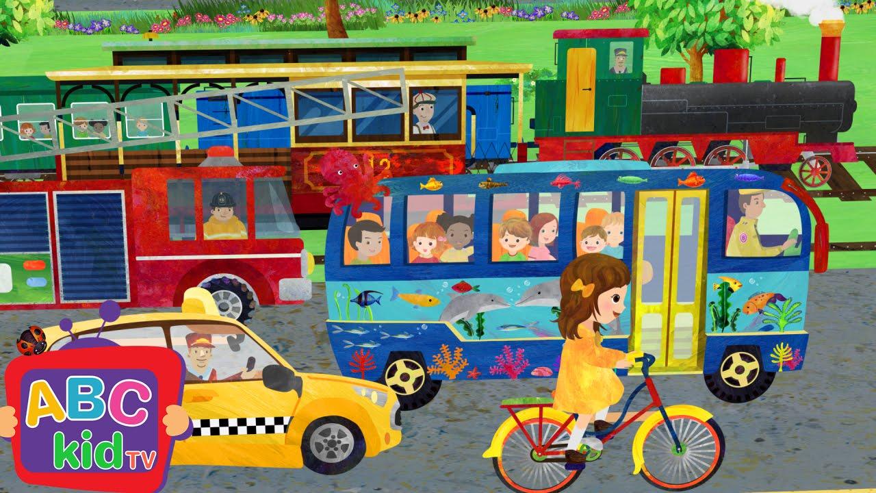 Wheels On The Bus And Vehicles Nursery Rhymes Kids Songs