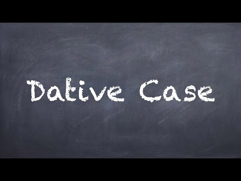 German Dative Case Explained - German 1 WS Explanation - Deu