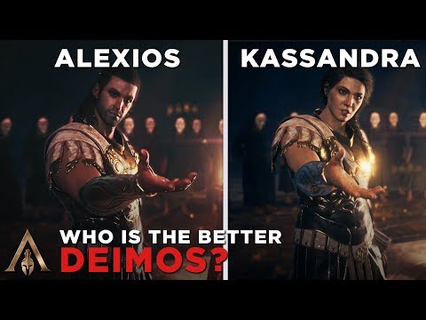 Alexios as Deimos vs Kassandra as Deimos - Assassin's Creed Odyssey