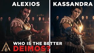Alexios as Deimos vs Kassandra as Deimos - Assassin