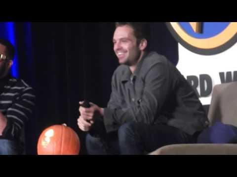 Sebastian Stan runs into audience to hug nervous fan! OMG
