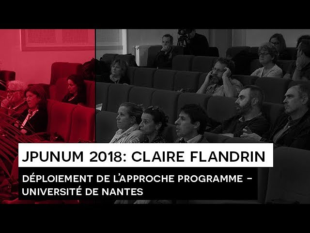JPUNUM 2018 : Intervention de Claire FLANDRIN