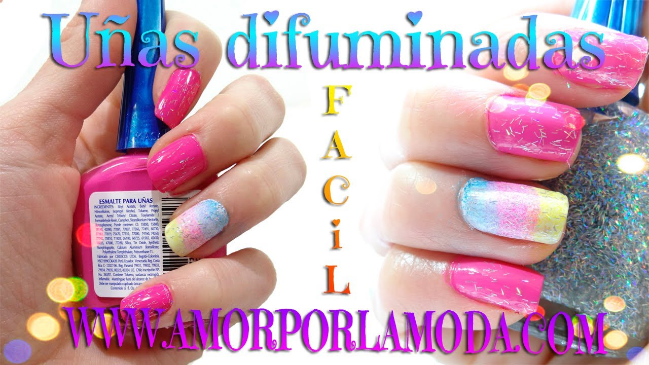 decora tus uas con un degradado difuminado arcoiris nail designs easy alee youtube