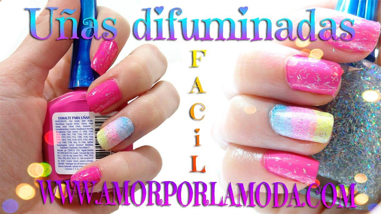 Decora Tus Uñas Con Un Degradado Difuminado Arcoiris Nail Designs