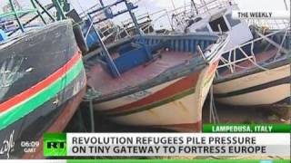 Arab revolts refugees push on tiny gateway to fortress Europe