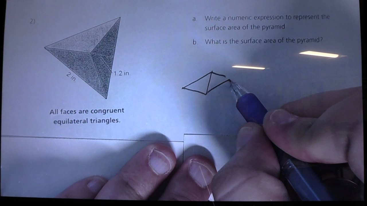 Finding The Surface Area Of A Triangular Pyramid