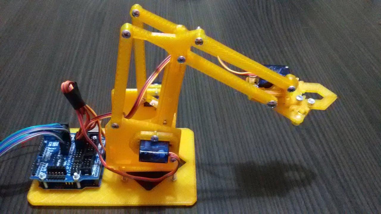 Robot kol projesi arduino youtube