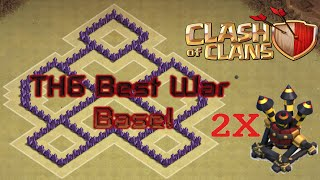 Clash of Clans - TH6 BEST Anti-Air Attacks War Base With 2x Air Defense 2016 Update | SUPERIOR Base!