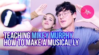 TEACHING MIKEY MURPHY HOW TO MAKE A MUSICAL.LY | Baby Ariel