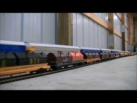 EPIC WORLD RECORD LONGEST MODEL HO SCALE TRAIN 1,662 cars 25 Locomotives