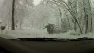Subaru Outback explores Madison WI during blizzard! GoPro Hero2