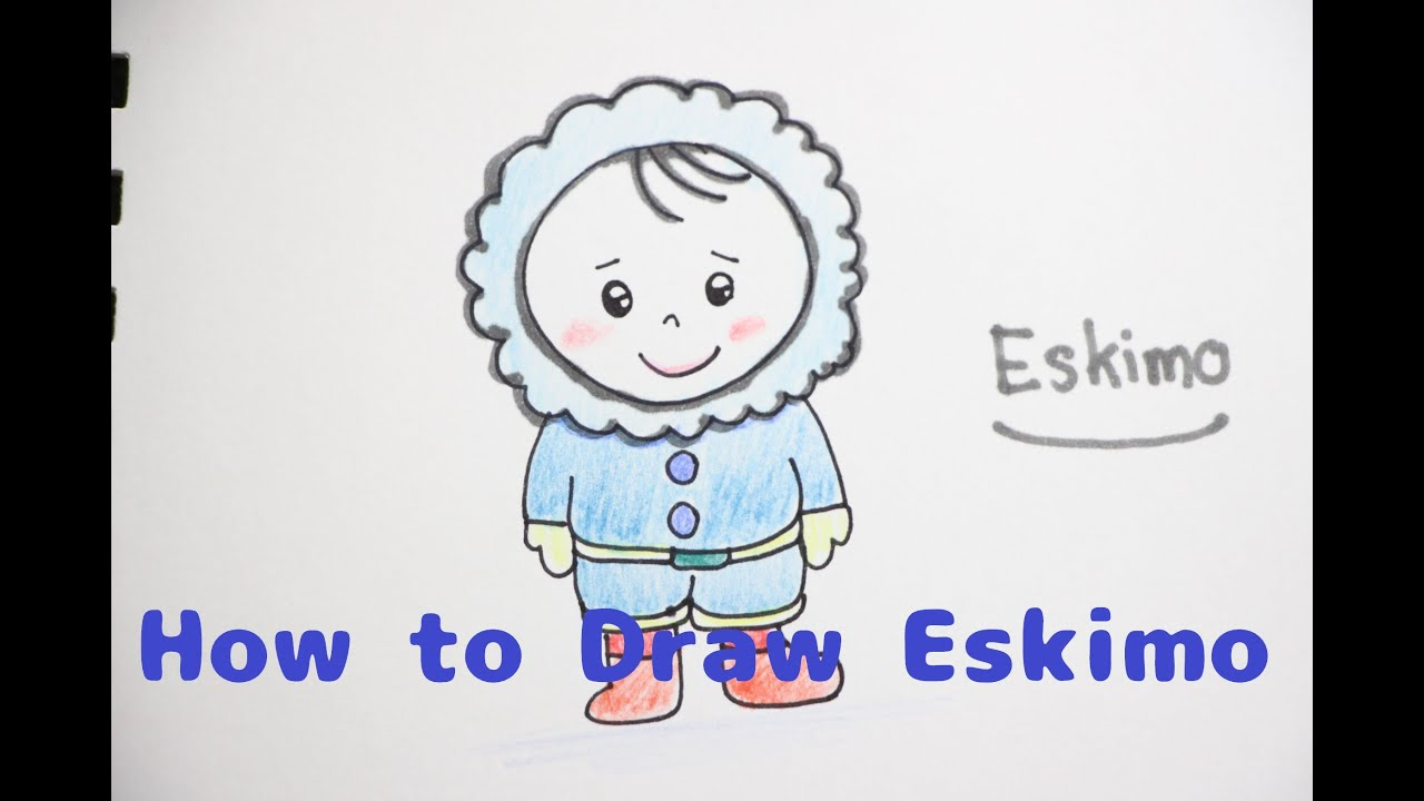 How to draw a Eskimo for Kids : Step By Step - YouTube
