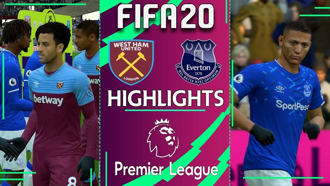 West Ham vs Everton   FIFA 20 PREMIER LEAGUE 2019/20 ...