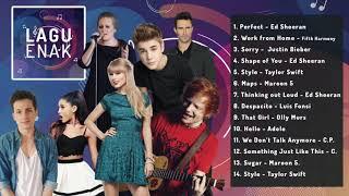 Lagu Enak - Lagu Barat - Terbaru 2019 - Lagu Santai - Ed Sheeran - Justin Bieber - Maroon V