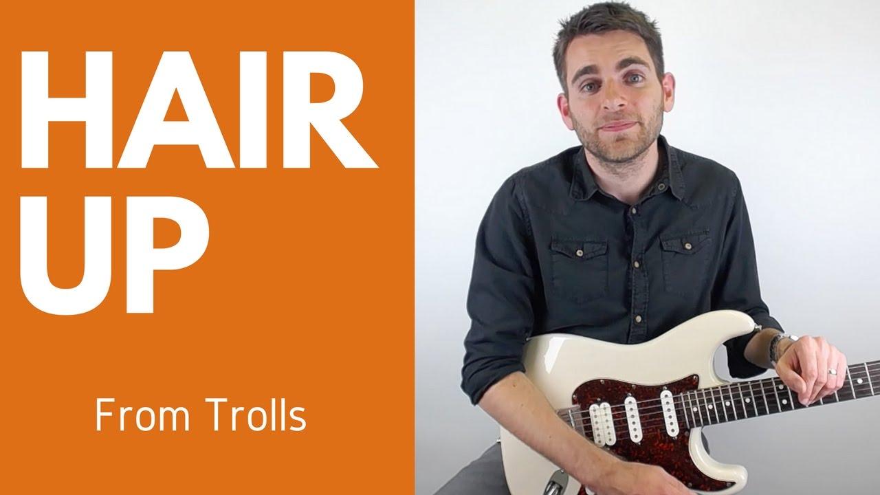 hair movie trolls guitar