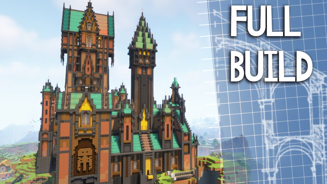 EPIC CASTLE TIMELAPSE! - How to build a Castle🏰 in minecraft 1.17!
