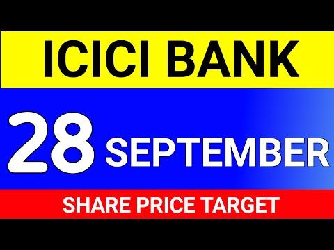 ICICI Bank, 28 September TARGET । ICICI Bank Share Price Today । ICICI Bank Share News Today