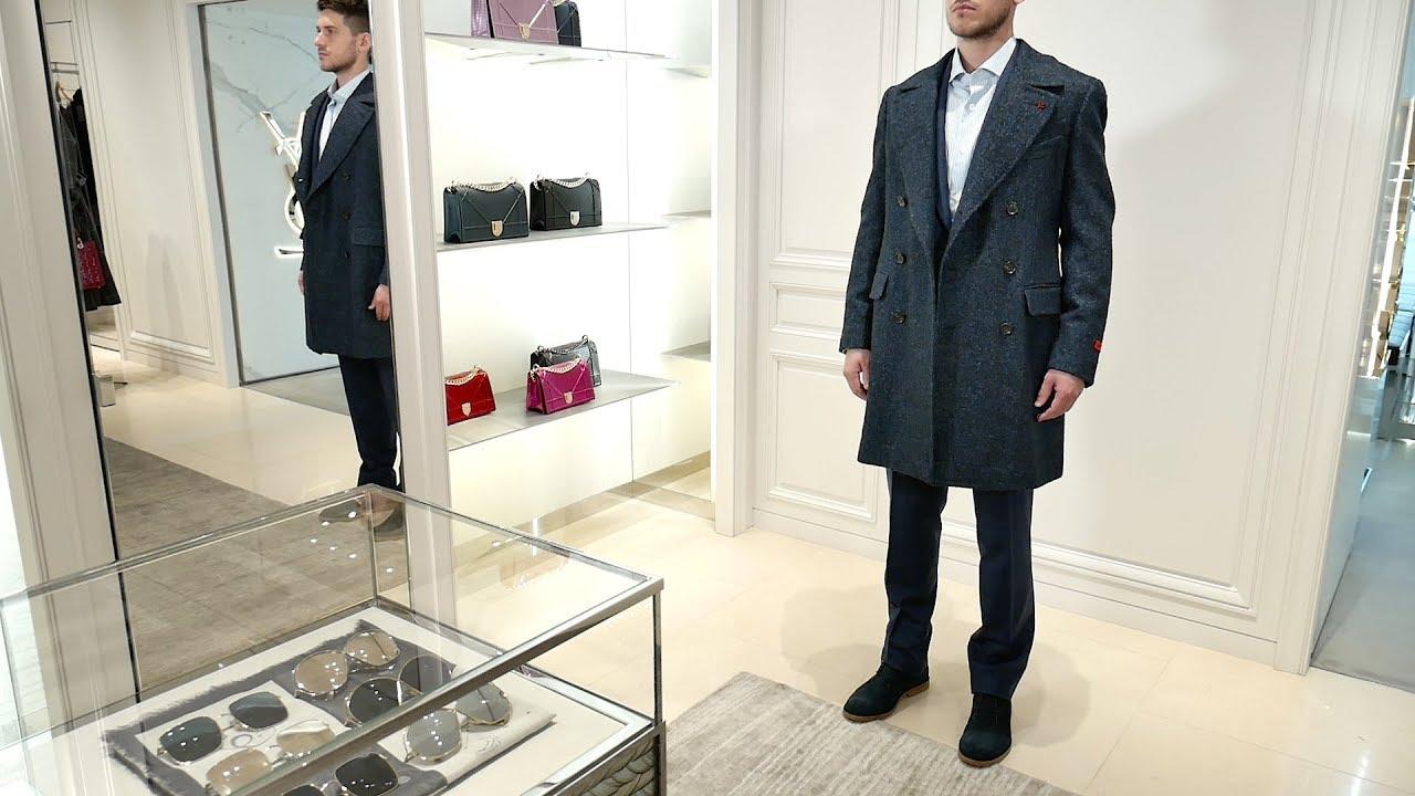 Total-look от ISAIA: пальто Marshal CP, костюм, рубашка, ботинки Brioni