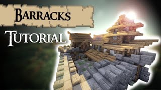 Minecraft Tutorial: Medieval BARRACKS