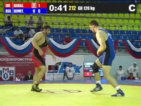 Bashir Babajanzadeh (Iran) vs Lyubomir Dimitrov (Bulgaria) 120kg 2012 Greco Roman World Cup
