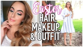 Easter Makeup, Hair, & Outfit | Spring GRWM