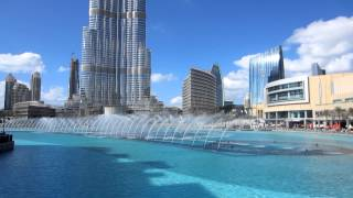 The Dubai Fountain (daytime)