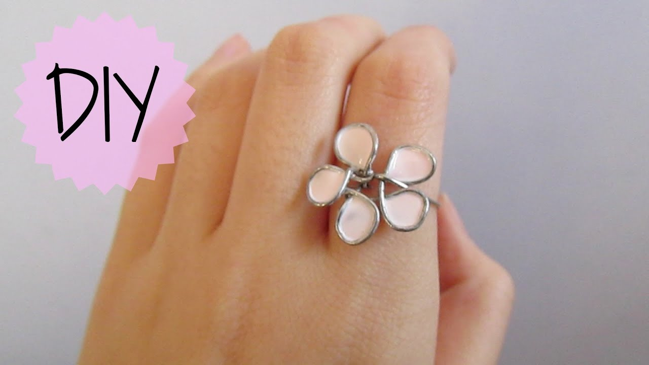 Diy flower wire ring youtube solutioingenieria Image collections