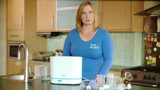 How to load your Philips Avent 3 in 1 sterilizer