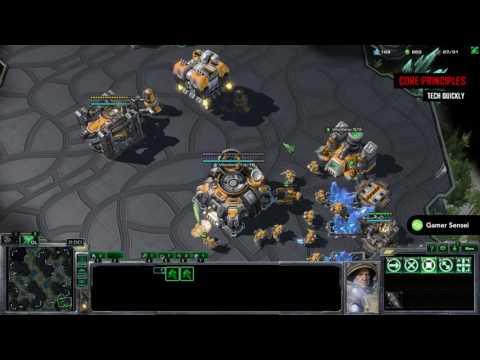 All-Purpose Terran Build Order #2: 1-Base Timing Attack (Sensei Bombs -  StarCraft II)