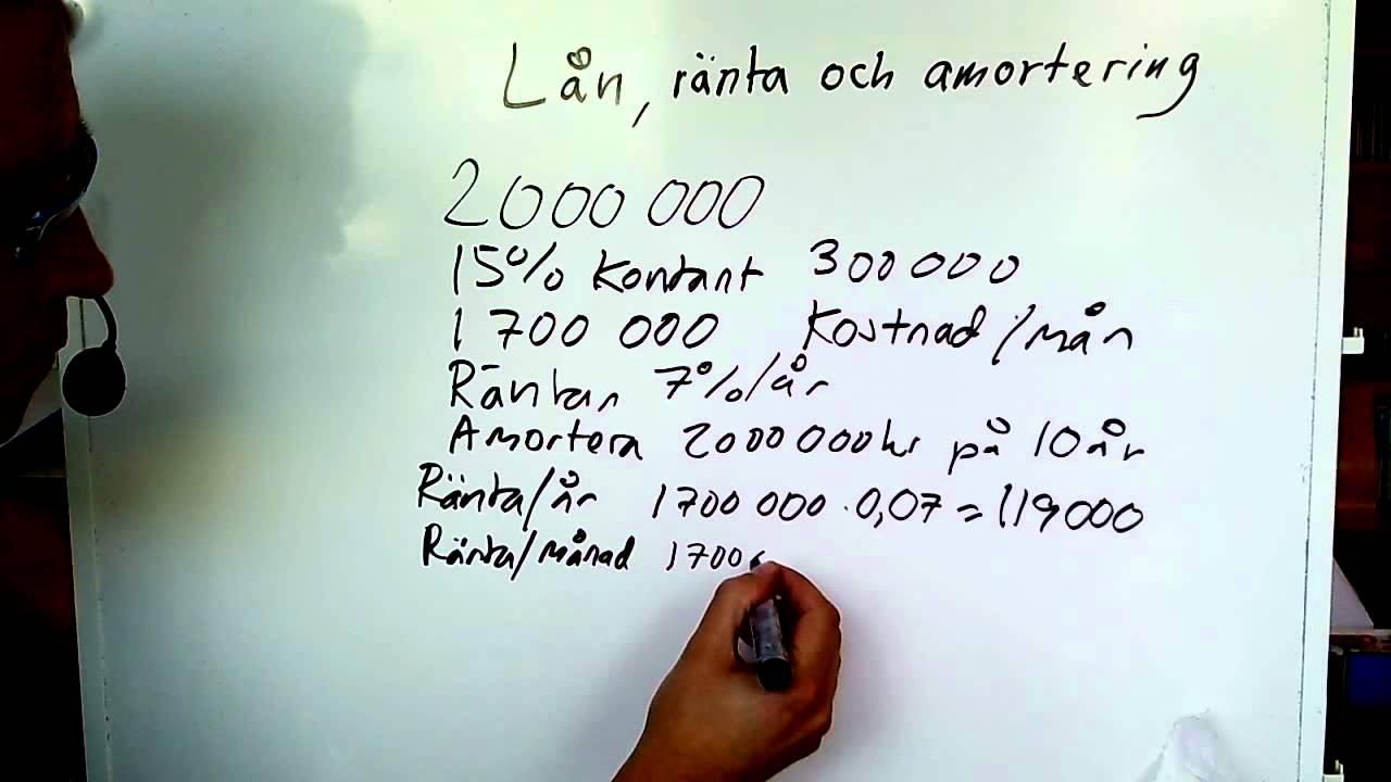 Hur räkna ut ränta på lån?
