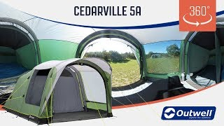 Outwell Cedarville 5A Air Tent  - 360 video (2019)