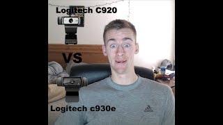 Better Webcam? Logitech c920 vs Logitech c930e