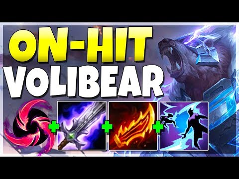 ON-HIT ATTACK SPEED NEW VOLIBEAR IS CRAZY!! (BROKEN DMG) - League of Legends
